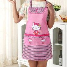 hello kitty Фартук для приготовления пищи Кухонный Фартук цветочный холст yey-K692