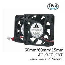 Lot 5pcs 60mm 6cm Brushless DC Cooling Cooler Fan 12V 6015S 60mmx60mmx15mm