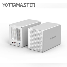 Yottamaster HDD 3.5 Case 5 bay USB3.0 Docking Station Aluminum USB3.0 to SATA HDD Enclosure  Support RAID 50 TB for Laptop PC