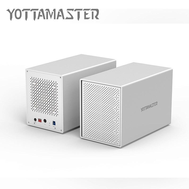 Yottamaster HDD 3.5 Cas 5 bay USB3.0 Station D'accueil En Aluminium USB3.0 à boîtier disque dur sata Soutien RAID 50 TB pour Ordinateur Portable PC