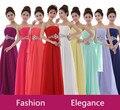 Elegant A-Line Chiffon Long Lilac Bridesmaid Dresses/Lilac Wedding Party Dresses/vestido de festa de casamento