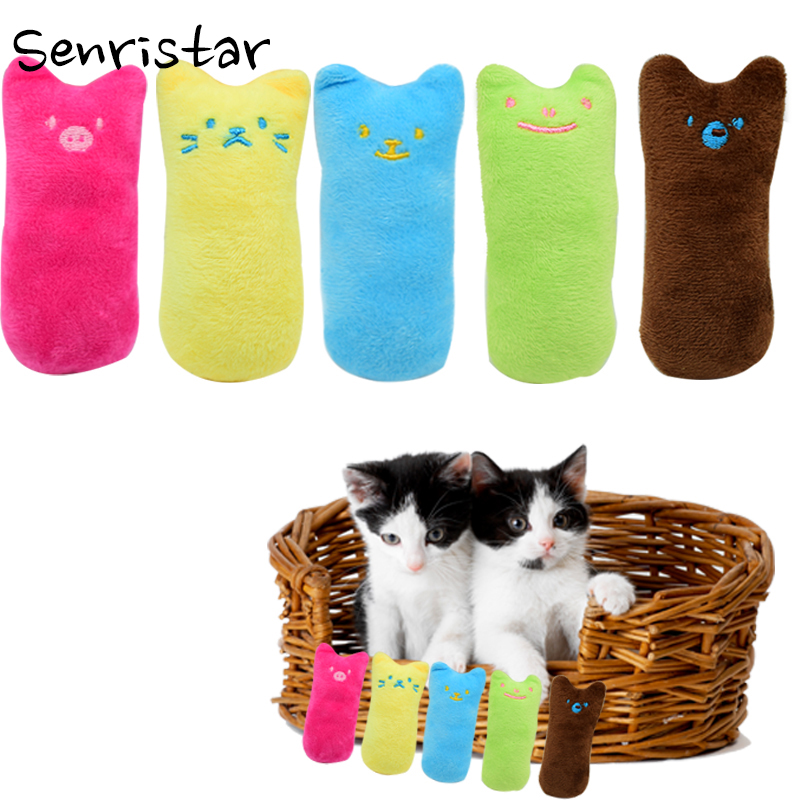 Stuffed Catnip Interactive Cat Toys Kitten Cat Mint Toys For Small Medium Cats Interesting Thumb Teeth Chew Pet Cat Toy