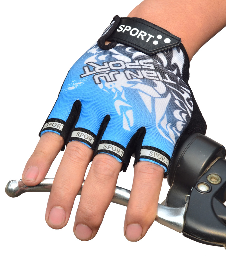 Spring and summer outdoor exercise bike gloves half gloves and Korean car ride