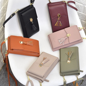 Image 2 - Universal Multifunction Women Wallet PU Leather Phone Bag Case For iPhone Samsung Xiaomi Huawei Credit Cards Slot Crossbody Bag