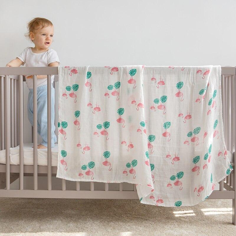 Pachet Super Soft pentru copii Bumbac Bamboo Muslin Swaddle pentru - Așternut