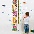 Детский Мультфильм Сова Наклейки Высота Дети Home Decor Стены Искусства Наклейки Наклейка Съемный Обои Для гостиной Спальня