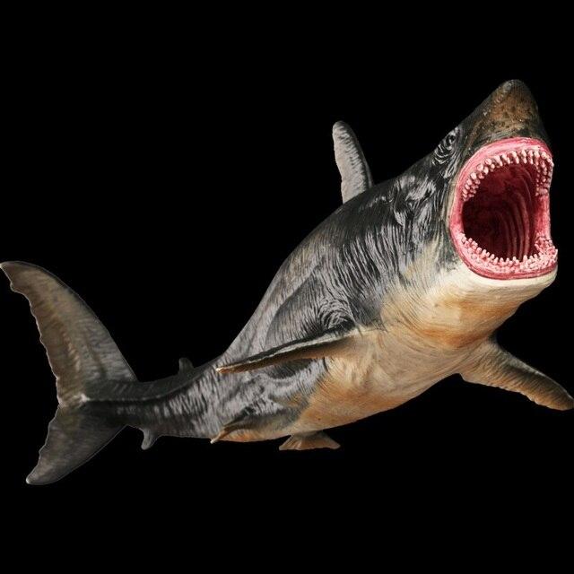 25 см Megalodon Акула Классические игрушки для мальчиков Морская жизнь Древняя модель животного