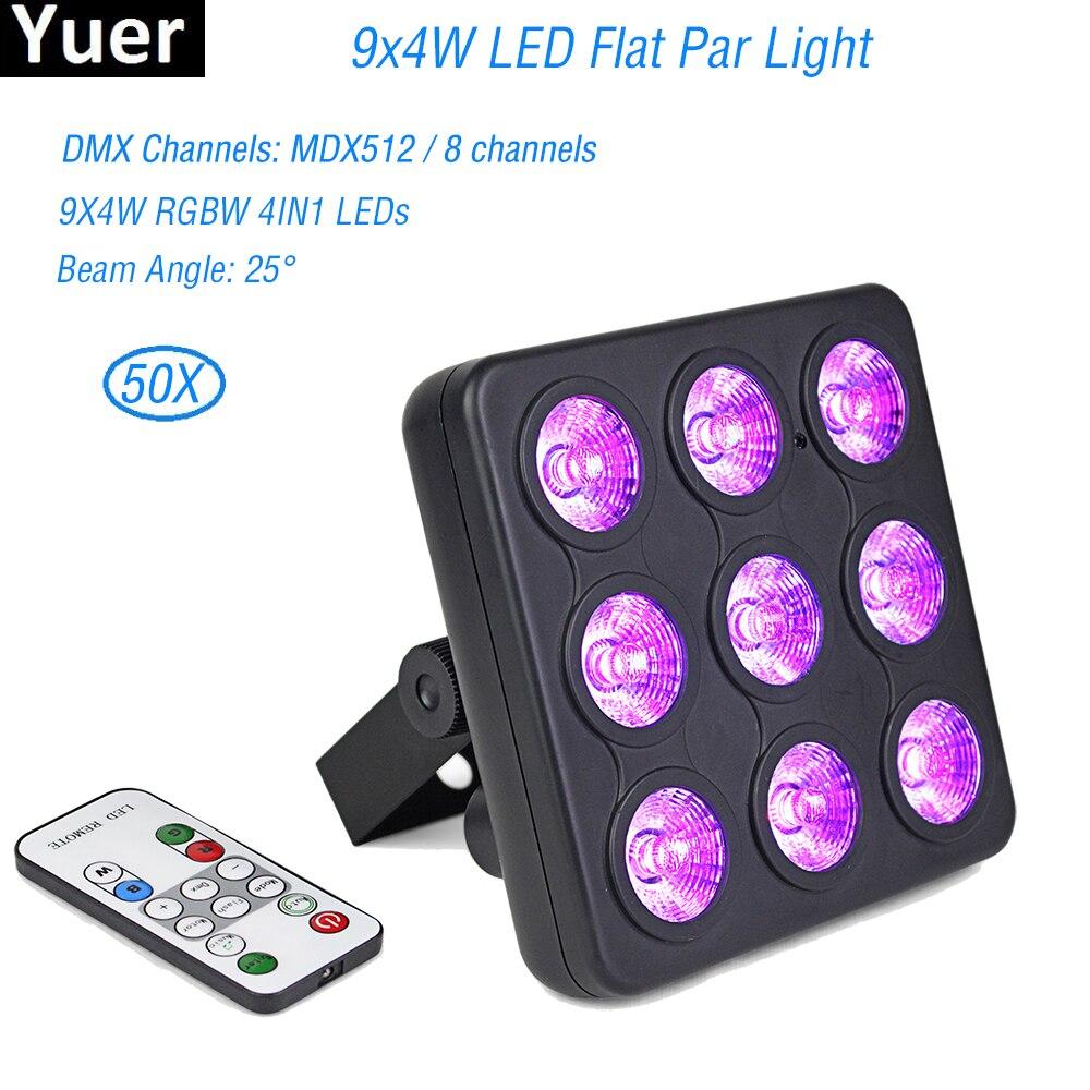 Высокое качество 9x4W светодиодный плоский сценический светильник светодиодный RGBW DMX512 Dream Color широкое использование для клубного Dj шоу Дома в