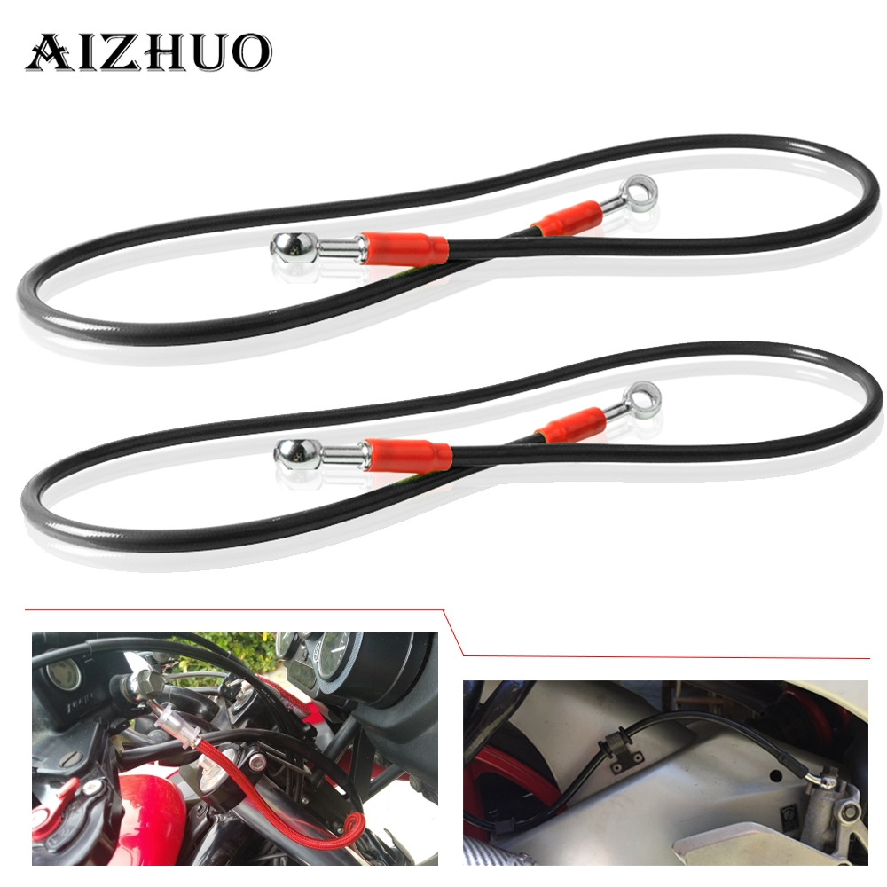 450-1200mm Motorcycle Dirt Bike Steel Hydraulic Reinforce Brake line Clutch For honda CRF250R 450R <font><b>CRF</b></font> 450R <font><b>CRF</b></font> 250X <font><b>450X</b></font> 250L image