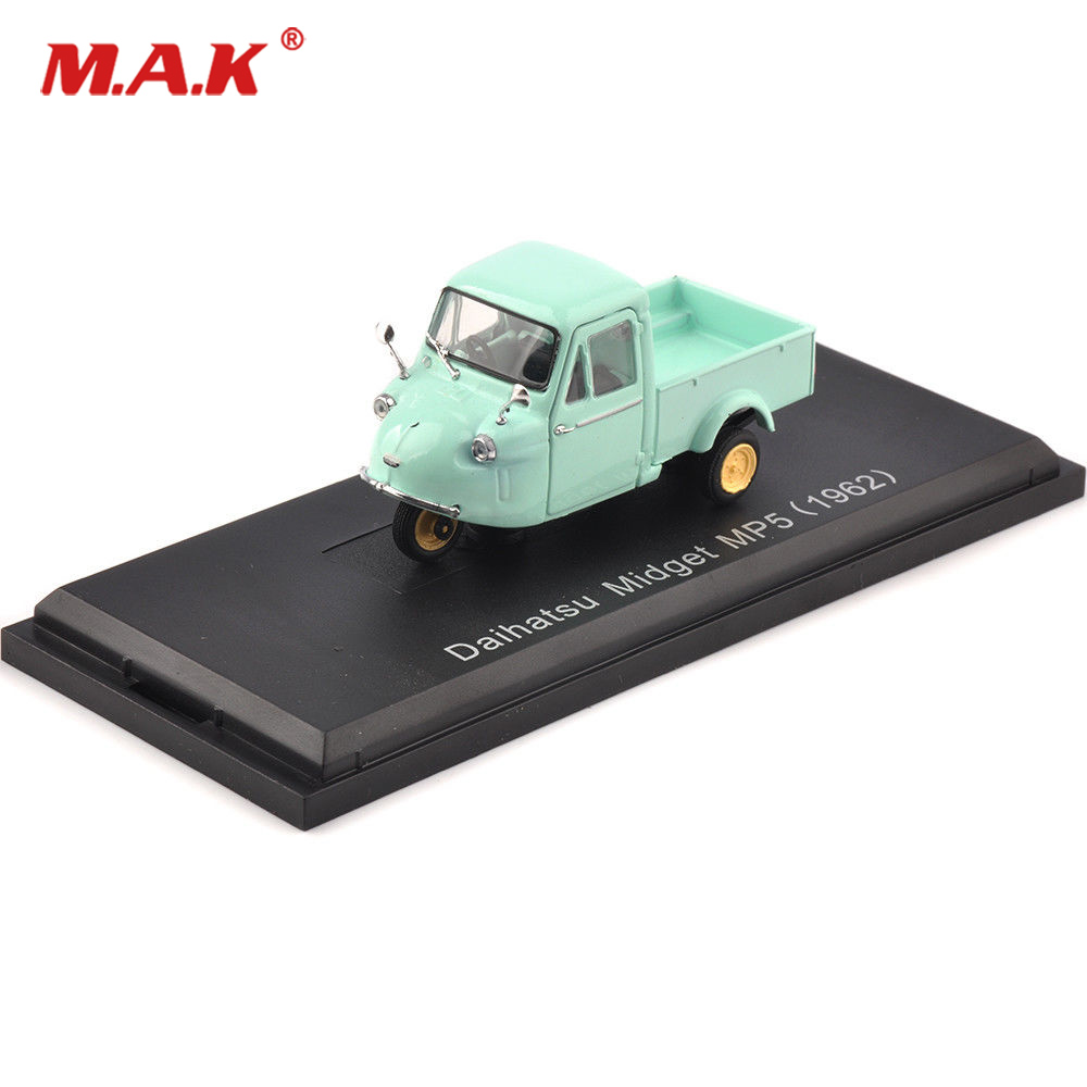 Kids Toy 1:43 Classic Diecast Alloy Car Model Norev 1:43 Diecast Blue Daihatsu Midget MP5 1962 sports Car Model Collectible