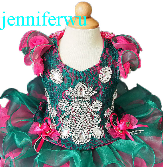 2 pieces cupcake dress for little girl and toddler girl  pageant 1T-6T G019-1 little pieces платье little pieces модель 28949119