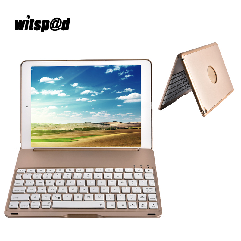 Slim Bluetooth Keyboard Case For iPad Air 1 Cover USB Wireless Keyboard For iPad 9.7 Clamshell Protective Cover For iPad 5 Stand detachable official removable original metal keyboard station stand case cover