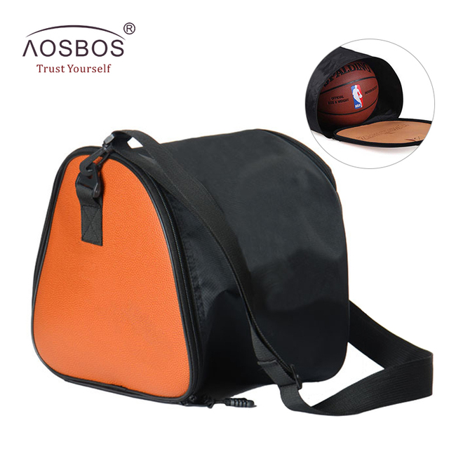 Aosbos 2019 Basketball Bags for Women Men Waterproof Leather Gym Bag  Lightweight Fitness Bags for Basketball Sport Training Bag a4fb79aac