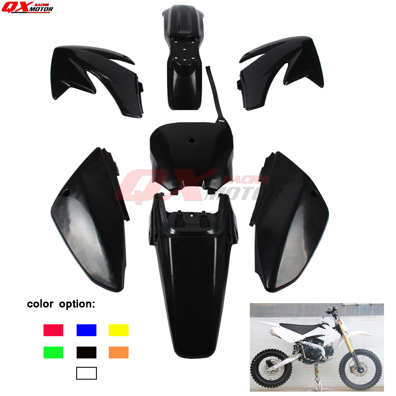 7 colors fender plastic kits For CRF 70 CRF70 Dirt Pit Bike free shipping7 colors fender plastic kits For CRF 70 CRF70 Dirt Pit Bike free shipping
