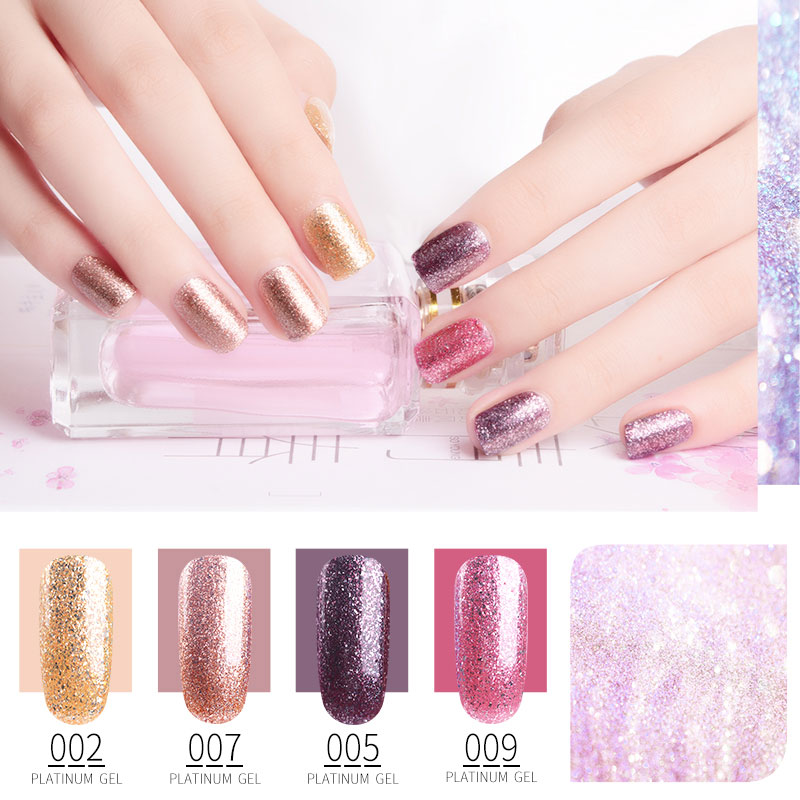 RS Nail 15ml Platinum Series Gel Nail Polish Glitter UV Color Nail Gel Varnish Esmalte Permanente Vernis Semi Permanant