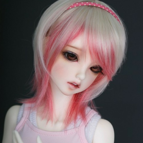 2017 Fashion Style 1/3 1/4 1/6 Bjd Wig High Temperature Doll lovely Short Pink Blonde SD Wig Free Shipping 1 3 1 4 1 6 1 8 1 12 bjd wigs fashion light gray fur wig bjd sd short wig for diy dollfie