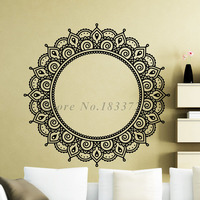 Art PVC Indian Religious Wall Stickers Mandalas Flower Adhesive Wall Decals Removable High Quality