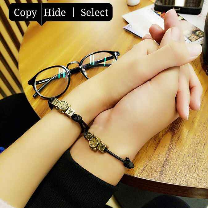 Couple Bracelet Personalized DIY Letter Lucky String Rope Braided Bracelets For Women Men Vintage Charm Handmade Bracelet 2019
