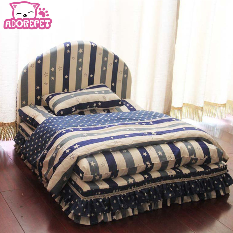 Washable 3 pieces small dog bed house set pet cat luxury Princess sofa Bed kennel for