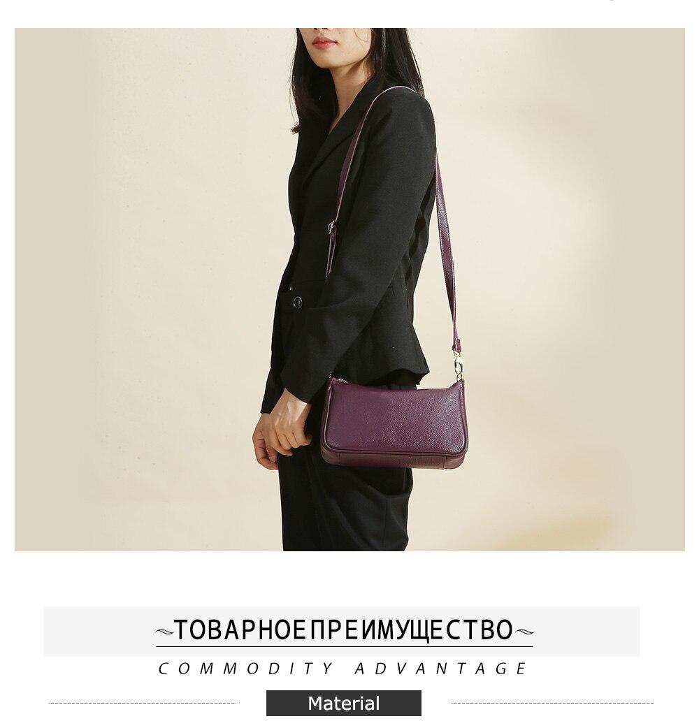 Zency elegante roxo mulher bolsa de ombro