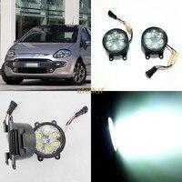 July King 18W 6LEDs H11 LED Fog Lamp Assembly Case for Fiat Punto Evo 2010, 6500K 1260LM LED Daytime Running Lights