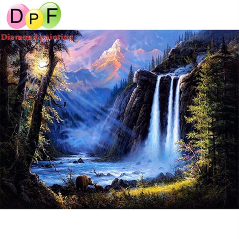 DPF 5D DIY Diamond Painting The scenery Diamond Embroidery Mosaic ,diamant painting,painting rhinestones,wall stickers