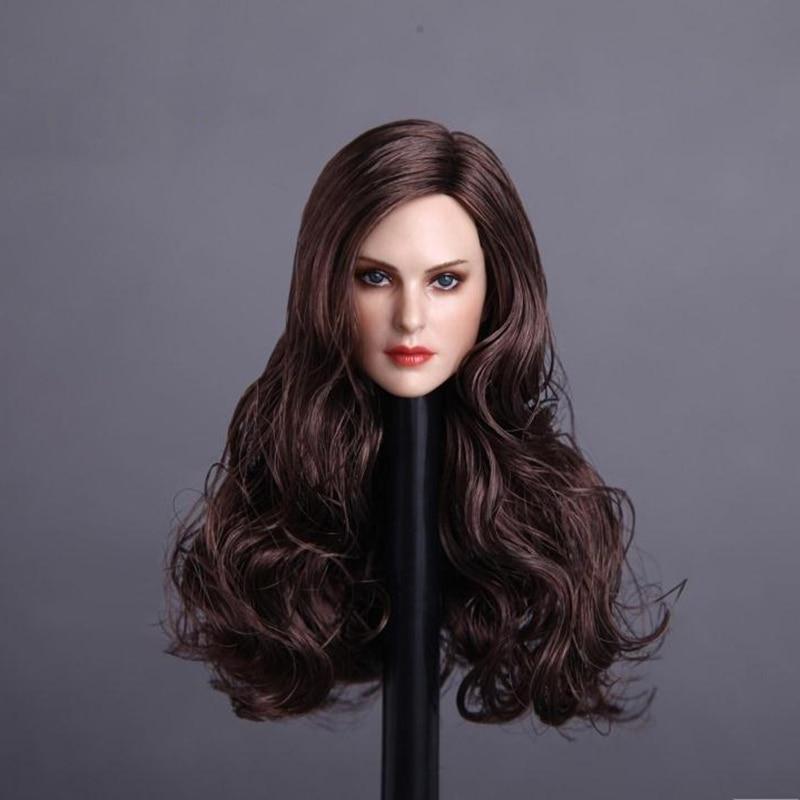 1/6 Scale Female head Sculpt Blonde/Brown Hair For 12