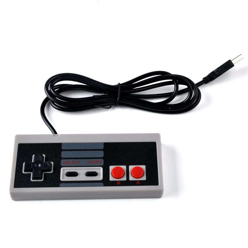 10pcs lot 8 Bit Plastic USB Controller Gaming Gamer JoyStick Joypad For NES Windows PC for