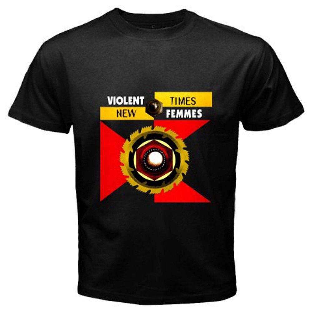 Новые 2018 насильственной Femmes * новые времена Альтернативная рок-Для мужчин черный футболка Размеры s 3 xlnew поступления повседневная одежда