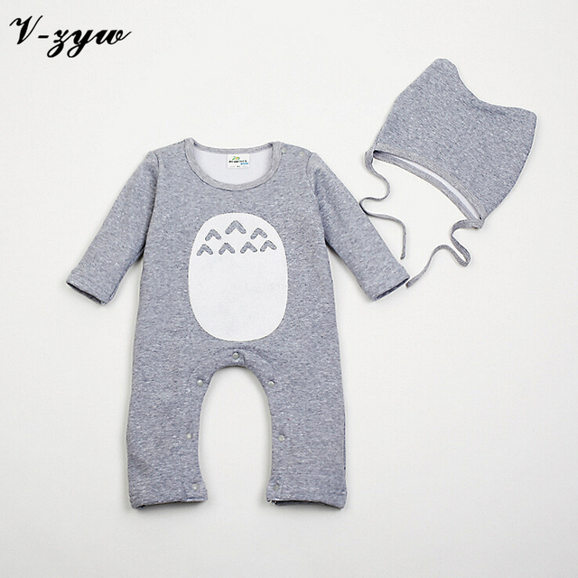 Baby Costume Totoro Romper High Density Flocking Climbing Clothing