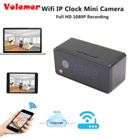 Volemer Table Clock Camera Alarm Setting 720P HD H 264 Mini Camera IR Night Vision Wifi