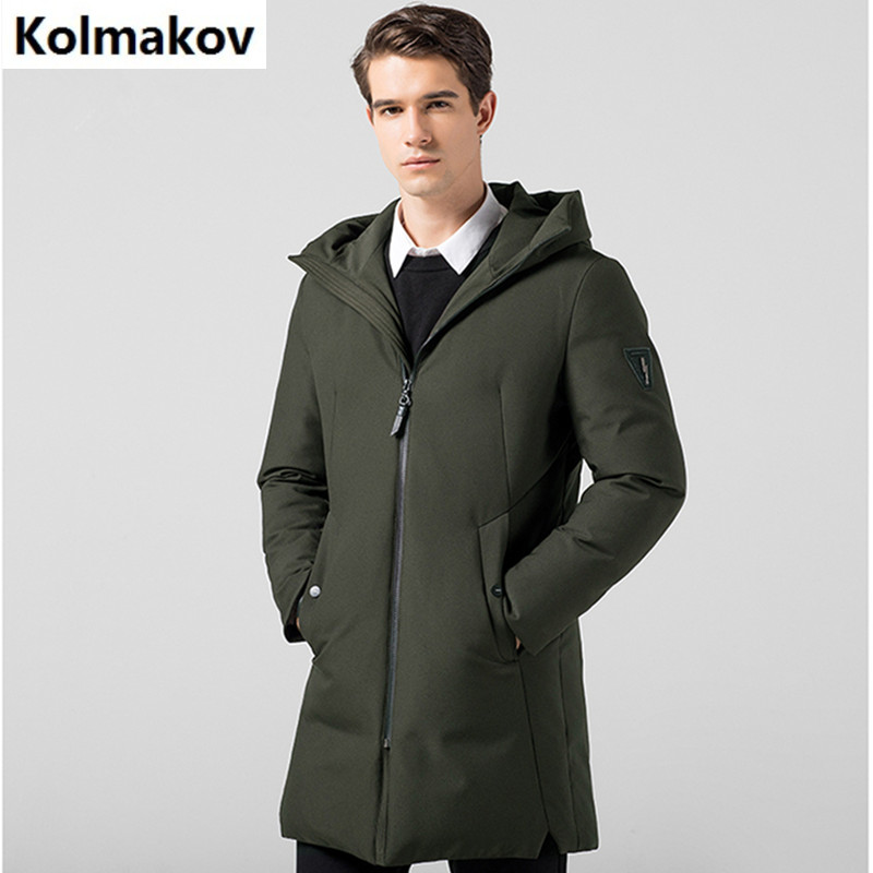 2017 winter Men's casual Hooded 80% white duck down down coats jackets Men's thick down cotton-padded jacket trench coat men цена