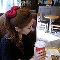 2016 Fashion Cute Hairpins Gig Bow Hair Clip for Women Hair Accessories Wholesale Black/Red/Blue