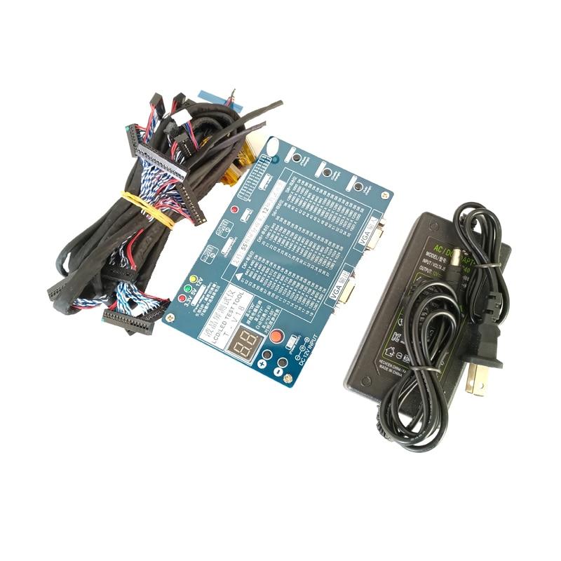 Outil de Test kit led panneau testeur LVDS interface + 14 pcs LCD TEST Écran ligne Câble + alimentation pour ordinateur portable Ordinateur Portable pour TV/LCD/LED