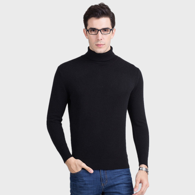 Aliexpress.com : Buy Men's Cashmere Sweaters Winter Warm Knitted ...