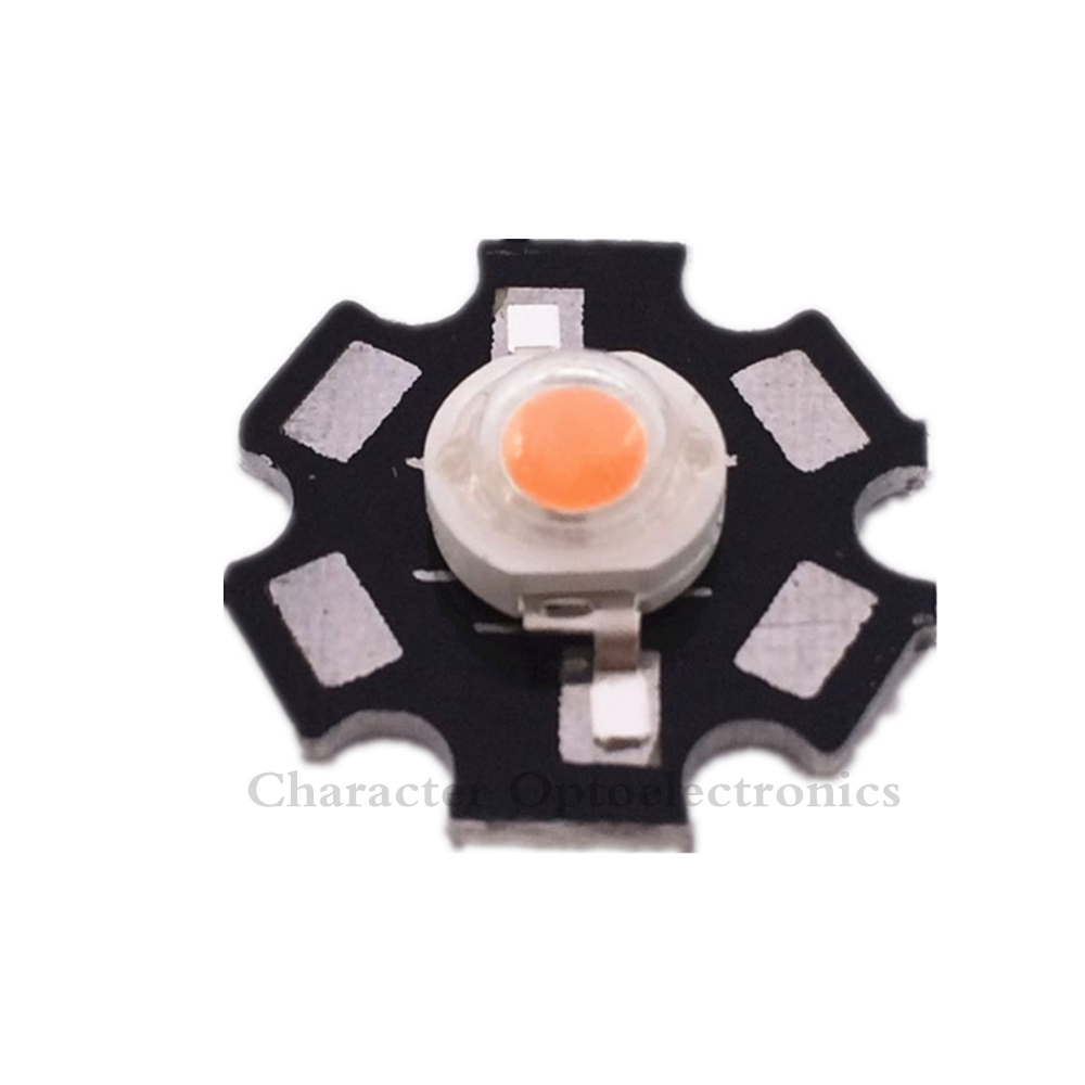 50pcs/lot 3W full spectrum led grow chip with PCB star , lights ,broad 400nm-840nm diode for indoor plant