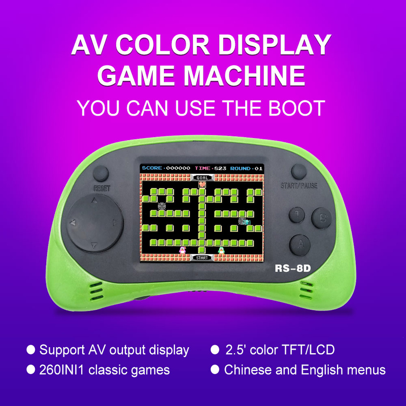 Video Game Console 8 Bit 2 5 Inch Portable Video Handheld Game Player Built in 260 Different Color Retro Game in Handheld Game Players from Consumer Electronics