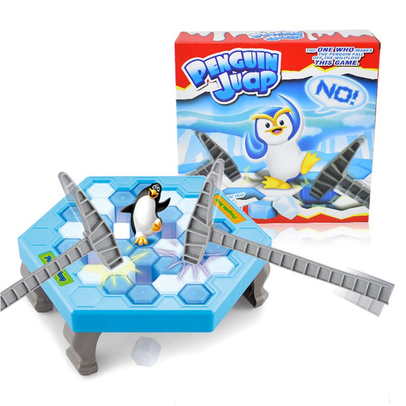 Ice Breaking Penguin Trap Puzzle Table Games Balance Ice Cubes Save Knock Ice Block Wall Toys Desktop Interactive Family Game