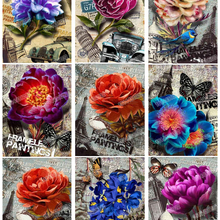 5D DIY Diamond Painting Cross Stitch Flower Pictures Of Rhinestones Diamond Mosaic Full circular Kit Diamond Embroidery Art