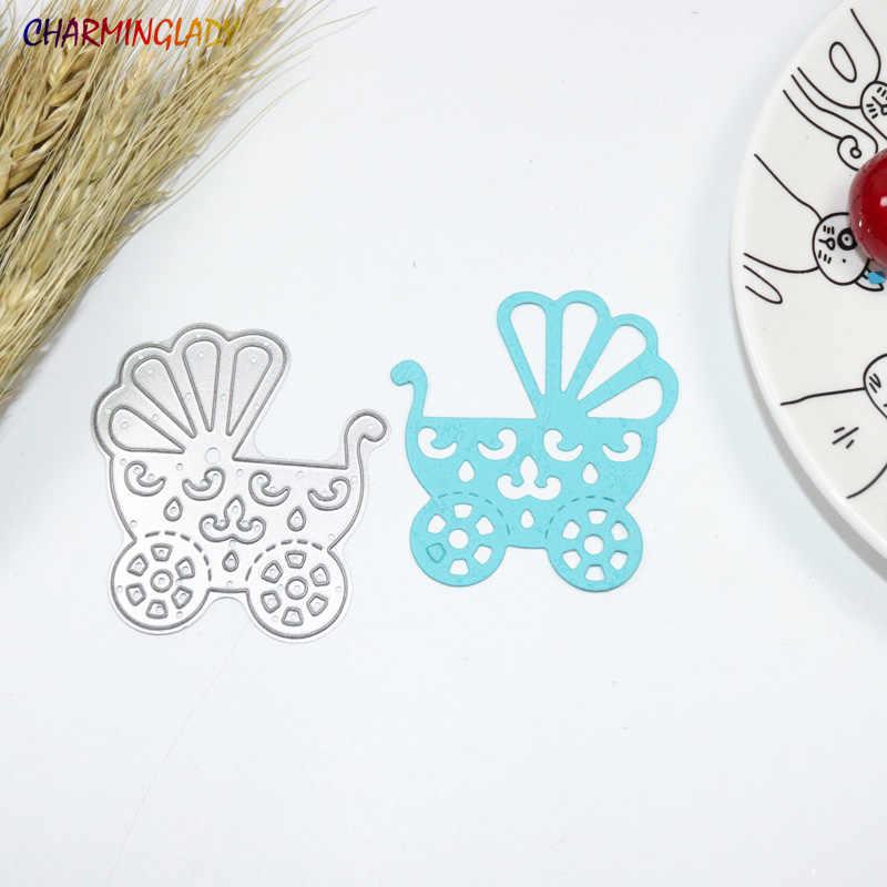 Детские коляски трафареты для пресс-формы DIY Скрапбукинг картон для творчества металлические украшения тиснение фолдерр