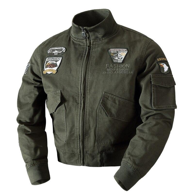 2017 Herbst Winter Männer Bomber Flug Jacken Military Air Force One Ma01 Flug Pilot Baumwolle Jacken Männer Große Größe M-4xl SchöN In Farbe