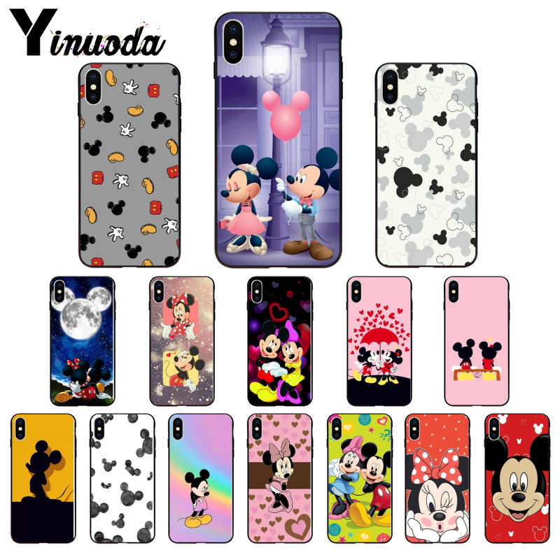 Yinuoda Beauty Cartoon Mickey Minnie Mouse Arrived Transparent Cell Phone Case for iPhone 5 5Sx 6 7 7plus 8 8Plus X XS MAX XR