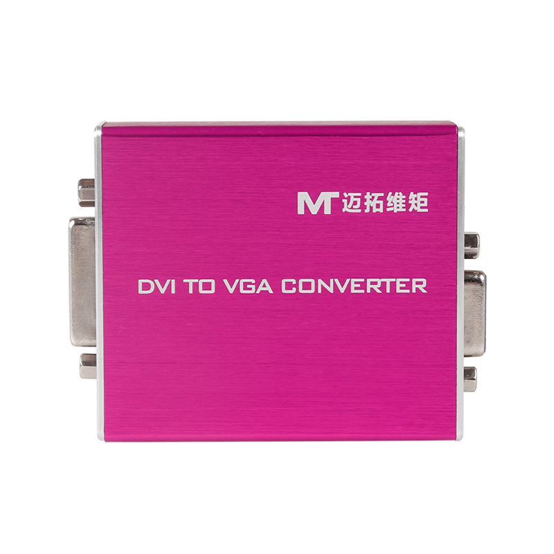 MT-VIKI DVI to VGA Converter DVI2VGA Adapter with Power Supply Stable Performance 1080P FHD High Quality MT-VD02 magnum performance high flow catalytic converter mazda demio 1 5l with weld on universal installation