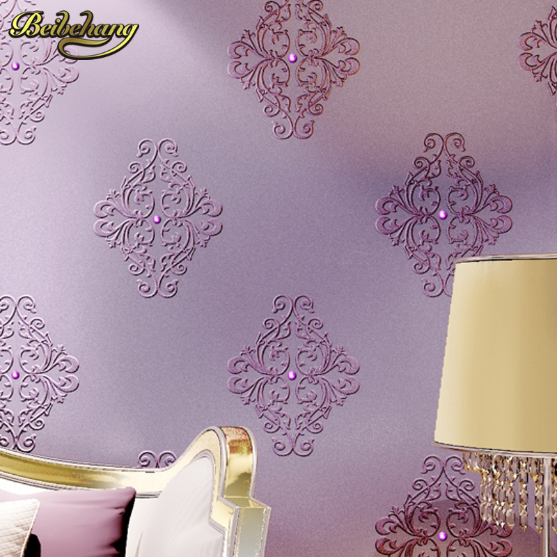 beibehang European embroidery diamond 3d flooring Wallpaper for living room papier peint tv backgroumd wall papers home decor beibehang embroidery wallpaper european