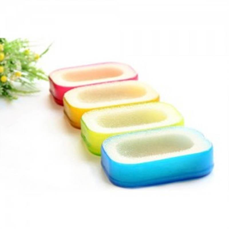 Multifunctional Sponge Soap Box Easy To Dry Bathroom Accessories Non-slip Soap Sponge Holder Kitchen Tool