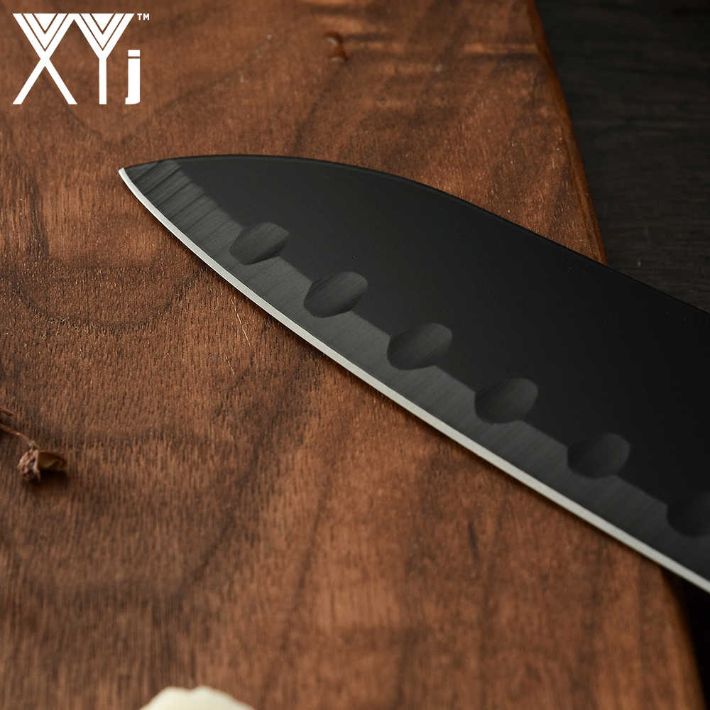 XYj Kitchen Knife Set 6-pieces Japanese Santoku Cleaver Knife Utility Blade Chef Knives Vegetable Chopping Knives Cutting Tools