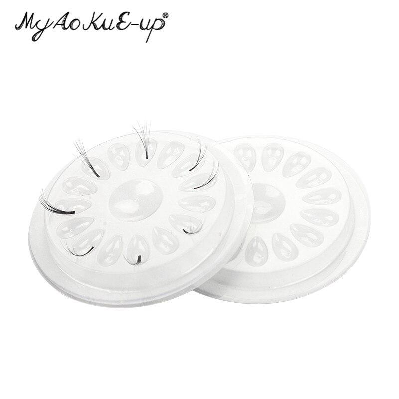 Flower Shape Glue Gasket Plastic Glue Pad For Eyelash Extension Transparent Glue Holder Eyelashes Adhesive Pallet Paste Tools