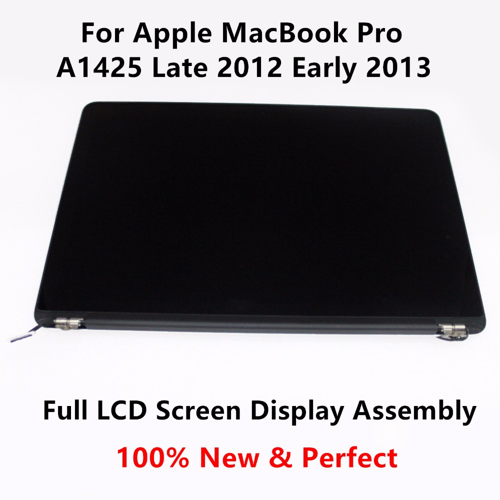100% New for Apple MacBook Pro Retina A1425 Late 2012 MD213 Early 2013 ME662 EMC 2557 Top Upper Full LCD Screen Display Assembly