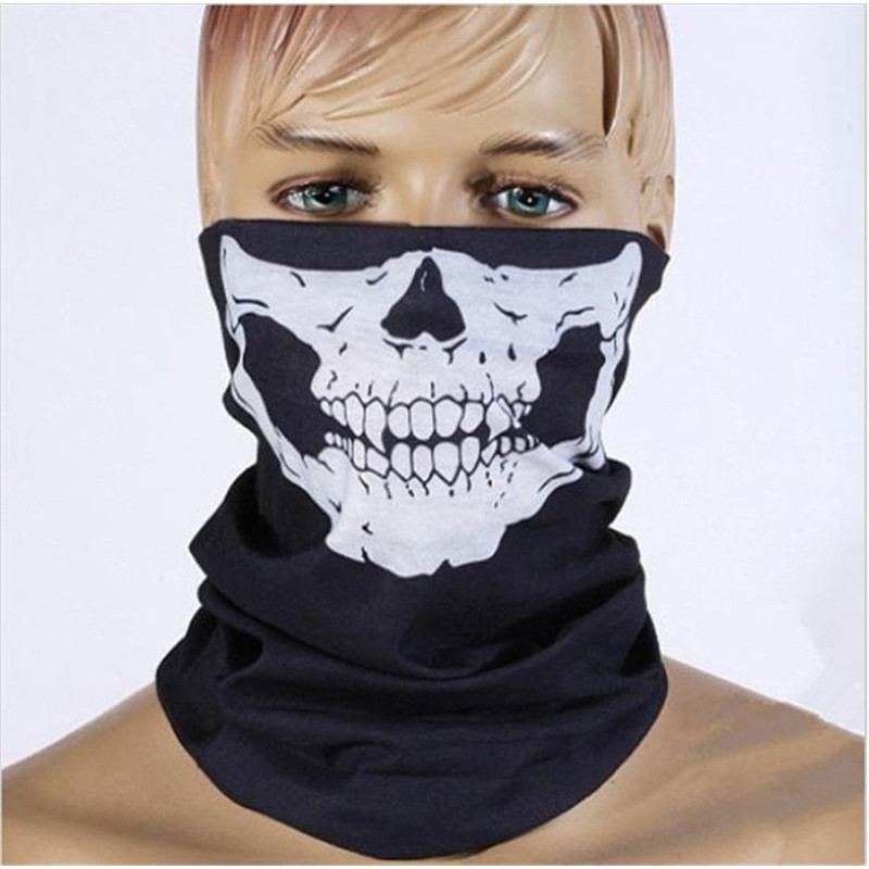 New Halloween Scarf Party Face Mask Festival Skull Masks Horror Scary Head Tease Party Masks Festive Supplies Masquerade Mask R8