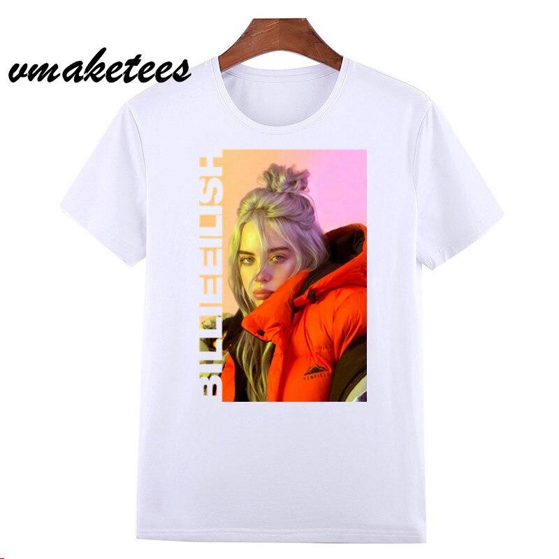 Hip Hop Billie Eilish   T     Shirt   Casual   T  -  shirt   O-Neck Short Sleeves Summer Men Women Tshirt High Quality Tee   Shirt   Top HCP4569